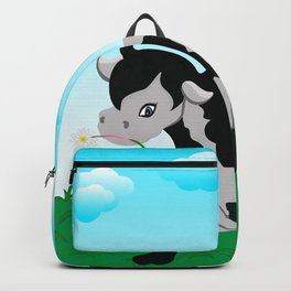 Cow on a meadow Backpack