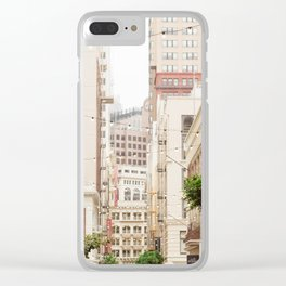 San Francisco Daydreaming in Union Square Clear iPhone Case