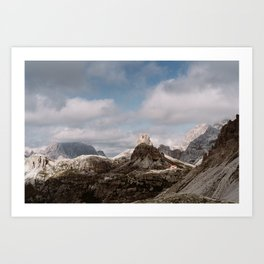 Red House in the mountains | Dolomites, Italy | Art Print