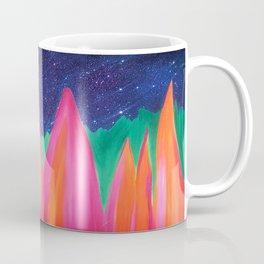 Night Sky with Pink and Orange Mountains Mug