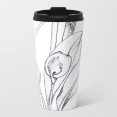 Calla Lily Point Metal Travel Mug