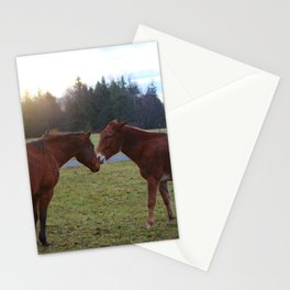 Kissing Horses Stationery Cards