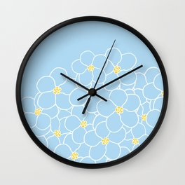 Forget Me Knot Blue Boarder Wall Clock