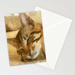 Let Sleeping Cats Lie Stationery Cards