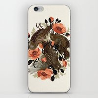 death iPhone & iPod Skins featuring Spangled & Plumed by Teagan White