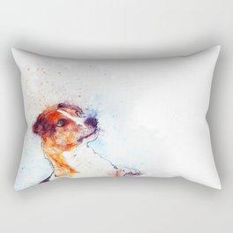 Watercolor Jack Russell Handshake Rectangular Pillow