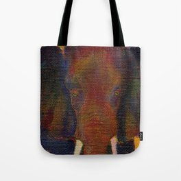 Colorful Bull Tote Bag