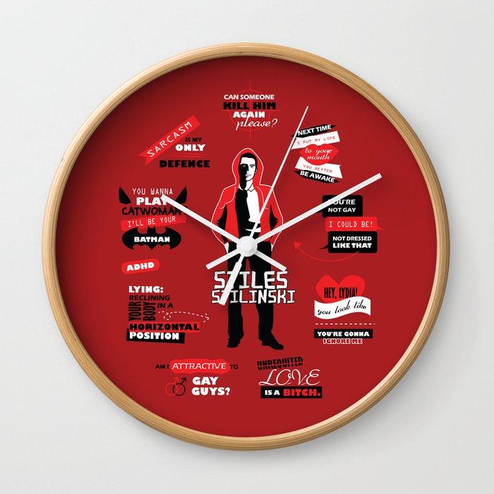 Stiles Stilinski Quotes Teen Wolf Wall Clock