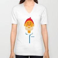 steve zissou V-neck T-shirts featuring Steve Zissou by Marco Recuero