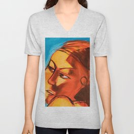 Lena Blue - Close Up Unisex V-Neck