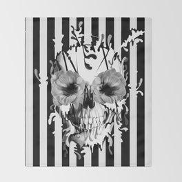 Limbo, Skull with poppy eyes Throw Blanket