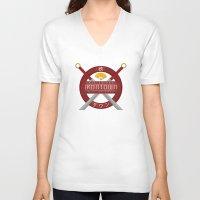 studio ghibli V-neck T-shirts featuring IRONTOWN - Studio Ghibli by Aonair Designs
