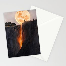 Fire Moon Manipulation Stationery Cards