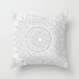 Untitled II (white on white) Throw Pillow