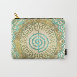 Pastel and Gold  Choku Rei Symbol in Mandala Carry-All Pouch