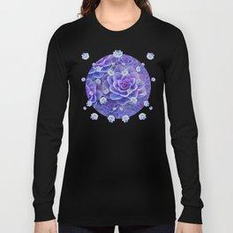"""""""Bouquet of pastel violet exotic succulents"""" Long Sleeve T-shirt"""