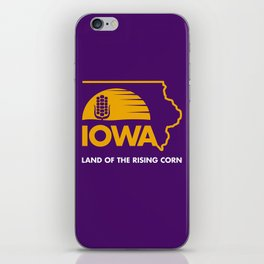 Iowa: Land of the Rising Corn - Purple and Gold Edition iPhone Skin
