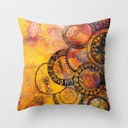 Mandala Be Grateful Throw Pillow