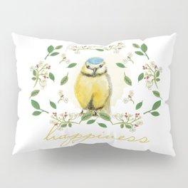 Blue Tit - Bird Watercolor Pillow Sham