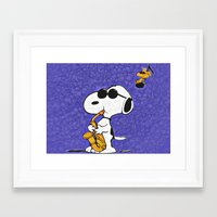 snoopy Framed Art Prints featuring Snoopy by DisPrints