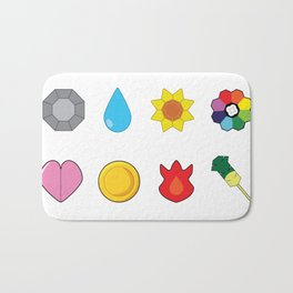 Kanto Gym Badges Bath Mat