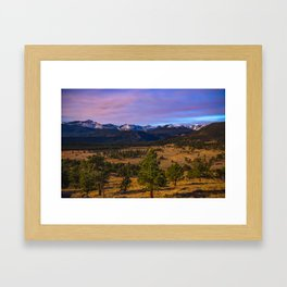 Rocky Mountain High - Moonlight Drenches Colorado Landscape Framed Art Print