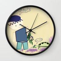 best friends Wall Clocks featuring Best Friends by famenxt