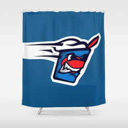 Nicholasville Blizzards Logo Shower Curtain