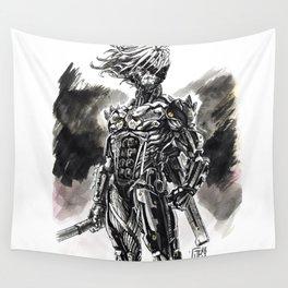 Cyber-Ninja Raiden Wall Tapestry