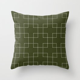 Embrace (Olive) Throw Pillow