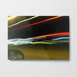 Outside the Car Window Metal Print