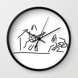 rock musician guitar headbanger Wall Clock