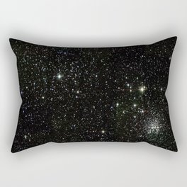 Space - Stars - Starry Night - Black - Universe - Deep Space Rectangular Pillow