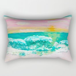 Pink Sand Sunset Rectangular Pillow