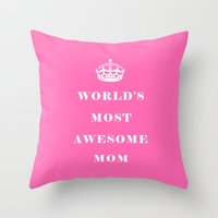 mom Throw Pillows featuring Mom by Beautiful Homes