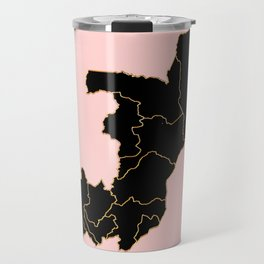 Democratic Republic of the Congo map Travel Mug