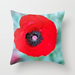 Kiss Me Red Throw Pillow
