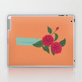 Floral drawing I: camellia Laptop & iPad Skin