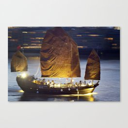 Ship on the Thames Canvas Print