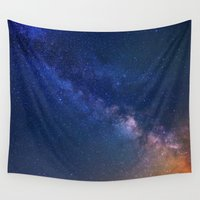 starry night Wall Tapestries featuring Starry Night by Space99