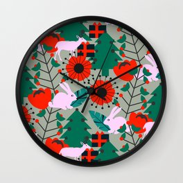Jolly Christmas crew Wall Clock