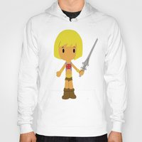 he man Hoodies featuring MUSCLOR AKA HE-MAN by Christophe Chiozzi