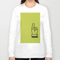 lime green Long Sleeve T-shirts featuring Direction Lime Green by Claire Doherty
