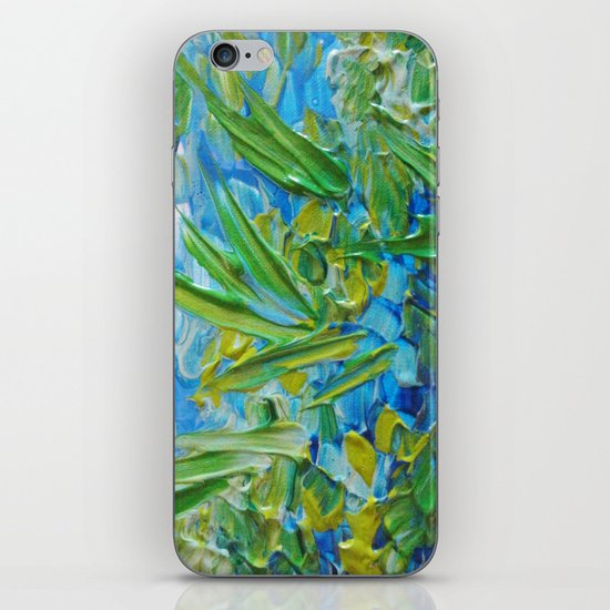 LAKE LOVE - Beautiful Relaxing Turquoise Blue Green Seaweed Chic Decor Gift for Him Acrylic Painting iPhone & iPod Skin