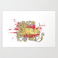 Rhino morph Art Print
