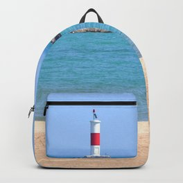 LIGHTHOUSE ON LAKE MICHIGAN Backpack