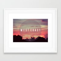 west coast Framed Art Prints featuring West Coast by marcbueno