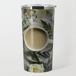 Flowers and Coffee Travel Mug