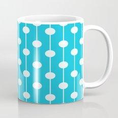 Bright Blue Lined Polka Dot Mug