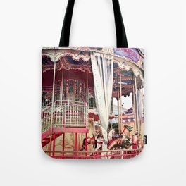 San Francisco Carousel Pier 39 Photo Print Tote Bag